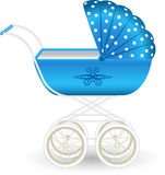 Blue pram Royalty Free Stock Photos