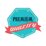 Blue premium quality label, vintage style Stock Photography