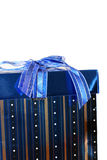 Blue present or gift Stock Photo