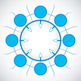 Blue presentation circle Royalty Free Stock Image