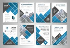 Flyer layout Royalty Free Stock Image