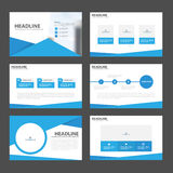Blue presentation templates Infographic elements flat design set for brochure flyer leaflet marketing. Advertising Royalty Free Stock Photo