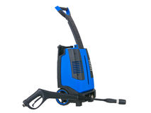Blue pressure portable washer gun down on Stock Photo