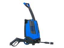 Blue pressure portable washer gun down on Stock Photo