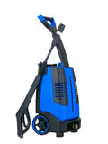 Blue pressure portable washer side view Stock Images