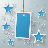 Blue Price Sticker With Stars PiAd Stock Photography