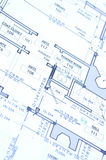 Blue print. A close up of a modern house blue print royalty free stock images