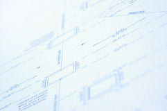 Blue print. A close up of a modern house blue print royalty free stock photo