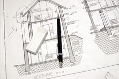 Blue print Royalty Free Stock Images