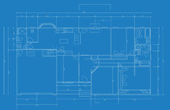 Blue Print. Vector illustration of a blueprint of a home floorplan Royalty Free Stock Photo