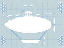Blue Print Fantasy Blimp CopySpace Royalty Free Stock Images