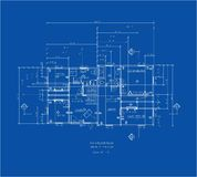 Blue print main floor Royalty Free Stock Photography