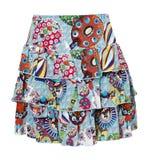 Blue print skirt Royalty Free Stock Photos
