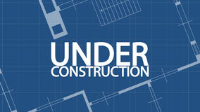 Blue print under construction 07 Royalty Free Stock Photo