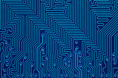 Blue printed circuit board Stock Image