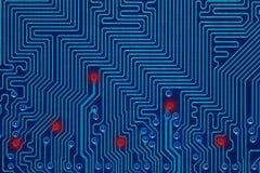 Blue printed circuit board Royalty Free Stock Image