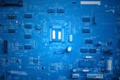 Blue printed circuit board Stock Photos