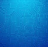 Blue Printed Circuit Board. Futuristic Shining Light Blue Technology Background ??? Printed Circuit Board Seamless with Pattern in Swatches Stock Photo