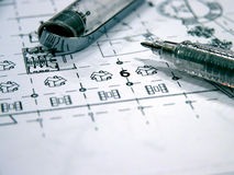 Blue prints Stock Photography