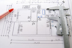 Blue prints Stock Images