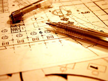 Free Blue Prints In Retro Style Stock Image - 641