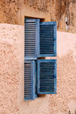 Blue Prison Wooden Louvred Shutters Stock Photography