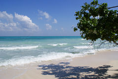 The blue pristine beach at Kalapathar Royalty Free Stock Photography