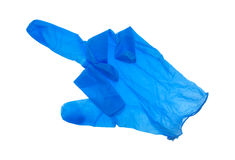 Blue proctologist glove Stock Photography