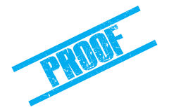 Blue proof stamp Stock Photography