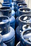 Blue Propane Tanks Royalty Free Stock Photos