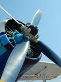 The blue propeller Stock Photos