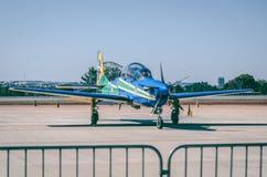 Blue Propeller Plane Stock Photo