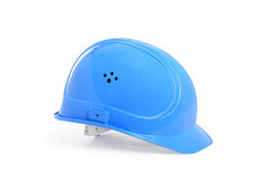 Blue protection helmet Stock Photography