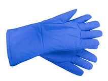 Blue protective gloves Royalty Free Stock Photo