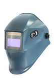 Blue protective mask for welding Stock Photo