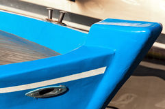 Blue Prow of Rowing Boat Stock Image