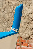 Blue Prow of Rowing Boat Stock Photography