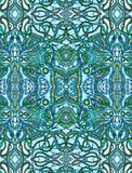 Blue psychedelic background Stock Images