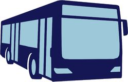 Blue public bus. Coach transport vector Stock Photography