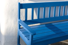 Blue Public Couch Stock Photo