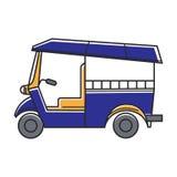 Blue public rickshaw. Vector illustration of blue colored rickshaw public vehicle Stock Image