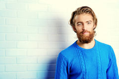 Blue pullover Royalty Free Stock Images