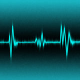 Blue pulse. Abstract blue pulse illustration Royalty Free Stock Image