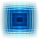 Blue pulse. Illustration of a blue abstract backround Stock Photos