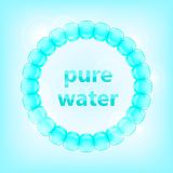 Blue Pure Water Concept Royalty Free Stock Photo