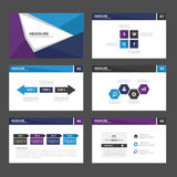 Blue purple Abstract Brochure report flyer magazine presentation element template a4 size set for advertising marketing website Stock Image