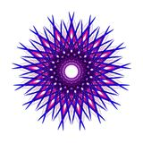 Blue and purple abstract design. Blue and purple abstract symbol design illustration vector. Great graphic to use for your creative ideas Stock Image