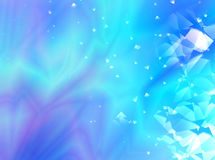 Blue and purple abstract fractal background with a random pattern and decorative glass effects. For various creative projects, prints, book covers, banners Vector Illustration