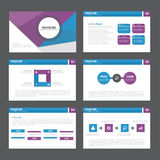 Blue purple Abstract presentation template Infographic elements flat design set for brochure flyer leaflet marketing Stock Photo