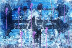 Blue, Purple, Art, Violet stock image